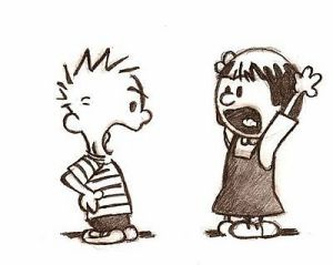 Even Calvin gets into arguments!